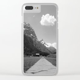 Alpine road Clear iPhone Case