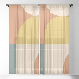 Abstract Geometric 04 Sheer Curtain