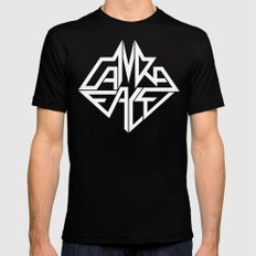 CamRaFace Logo White for T-Shirts Black MEDIUM Mens Fitted Tee