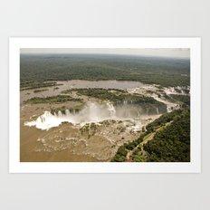 Iguassu Falls Aerial View Art Print