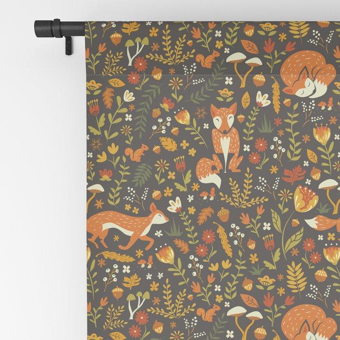 Fox in an Autumn Garden Blackout Curtain