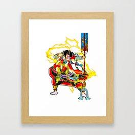 "Kabuki ""lightning arrow"" Framed Art Print"