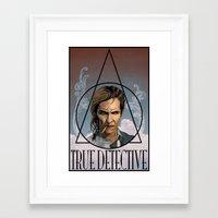 true detective Framed Art Prints featuring True Detective by Pop Vulture