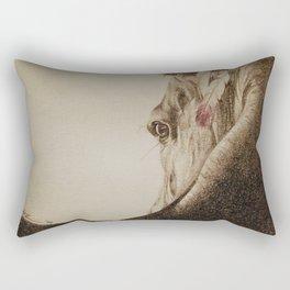 Native Horse Rectangular Pillow