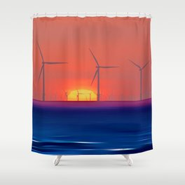 Windmills to the Sun Shower Curtain