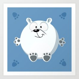 Polar bear form the circle series Art Print