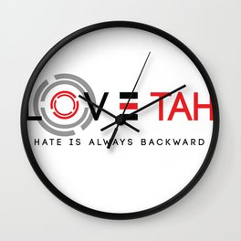 hate is backward Wall Clock