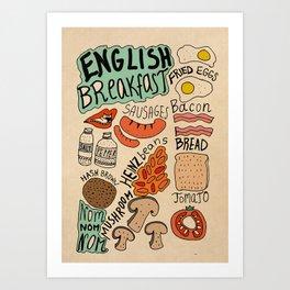 English Breakfast Art Print