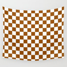 Checker (Brown/White) Wall Tapestry