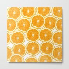 Summer Citrus Orange Slices Metal Print