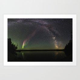 Milky Way and Steve Art Print