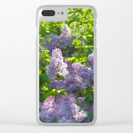 Summer lilac nature pattern Clear iPhone Case