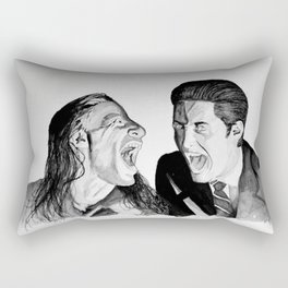 How's Annie? Bob and Possessed Evil Cooper Laughing and Having a Great Time in the Black Lodge Rectangular Pillow