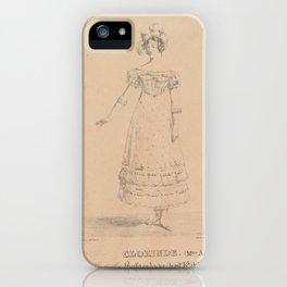 Anatole Mme b EngelmaMathilde e costume Mme Anatole dans Goconde ballet Acade Rle de musiqueAdditional Astolphe et Joconde iPhone Case