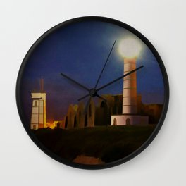 Brittany France Vintage Travel Poster Wall Clock