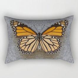 Monarch Butterfly Beneath Rectangular Pillow
