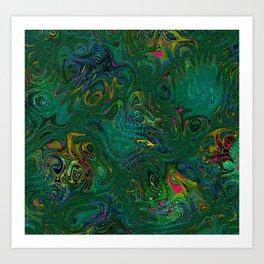 Colorful Creatures Art Print