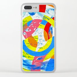 Composition #2 by Michael Moffa Clear iPhone Case