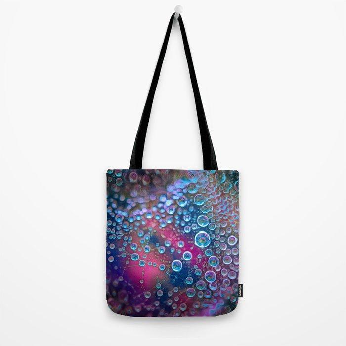 Magic iridescent colorful dew drops Tote Bag