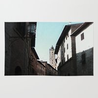 italian Area & Throw Rugs featuring Italian Roofs by WaterAngel42