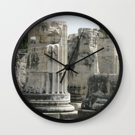 Fluted Ionic Columns - Temple of Apollo, Turkey Wall Clock
