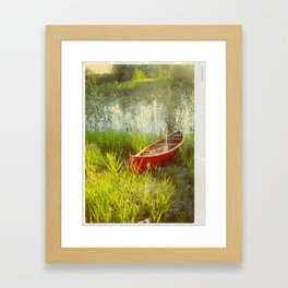 Little Red Canoe Framed Art Print
