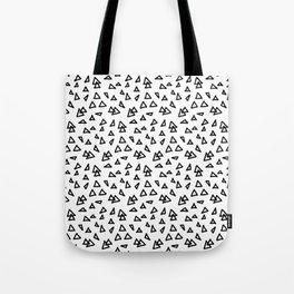 Modern geometric hand drawn minimalist black triangles pattern Tote Bag