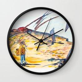 X voYages de Zed (toile 4 -série 1) Wall Clock