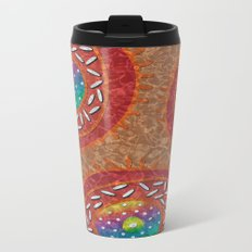 Orange Organism Metal Travel Mug
