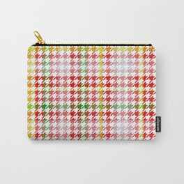 Houndstooth Classic Red Green Yellow Plaid Carry-All Pouch