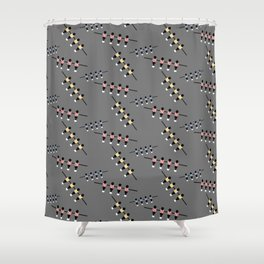 Colorful table kicker player   Q9Q Pattern Shower Curtain
