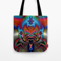 spawn Tote Bags featuring Spawn by Jim Pavelle
