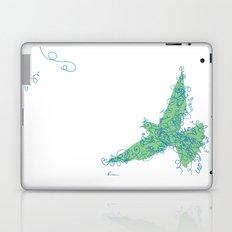 Bird Fly No. 2 (Blue/Green) Laptop & iPad Skin