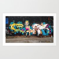 miley Art Prints featuring Miley  by phes28
