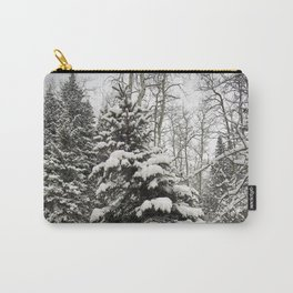Carol M Highsmith - Snowy Pine Trees Carry-All Pouch