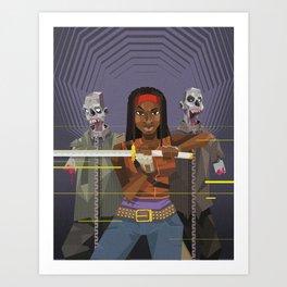 Michonne - The walking Dead Art Print