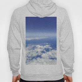 Sky Above the Clouds,Cloudscape background, Blue Sky and Fluffy Clouds Hoody