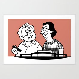Archie and Edith Art Print