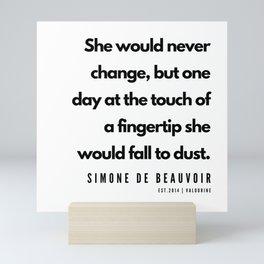 20      Simone De Beauvoir Quotes   190605 Mini Art Print
