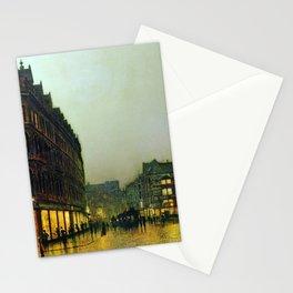Boar Lane, Leeds, England Landscape by John Atkinson Grimshaw Stationery Cards