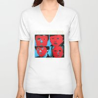 talking heads V-neck T-shirts featuring Talking Heads - Remain in Light by NICEALB