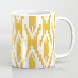 Yellow Ikat Pattern Coffee Mug