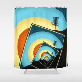 Spinning Disc Golf Baskets 1 Shower Curtain