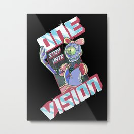 One Vision, Stop Hate: Empowering Robot Metal Print