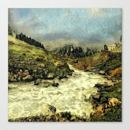 Mill Valley Stream Roar Canvas Print