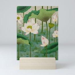 Lotus flowers B - Minhwa-Korean traditional/folk art Mini Art Print
