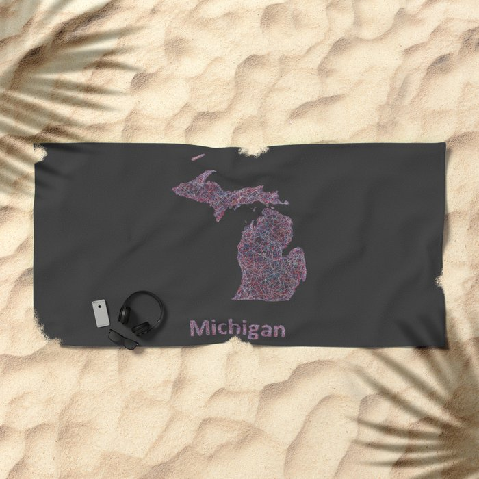 Michigan Beach Towel