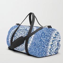 Yin Yang Mandala Pattern (Blue & Yellow) Duffle Bag