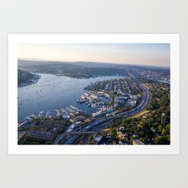 Seattle, City with Love Art Print