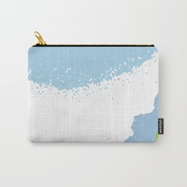 Texture indigo blue pattern Carry-All Pouch